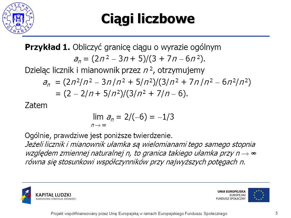 Ciągi liczbowe Przykład 1.