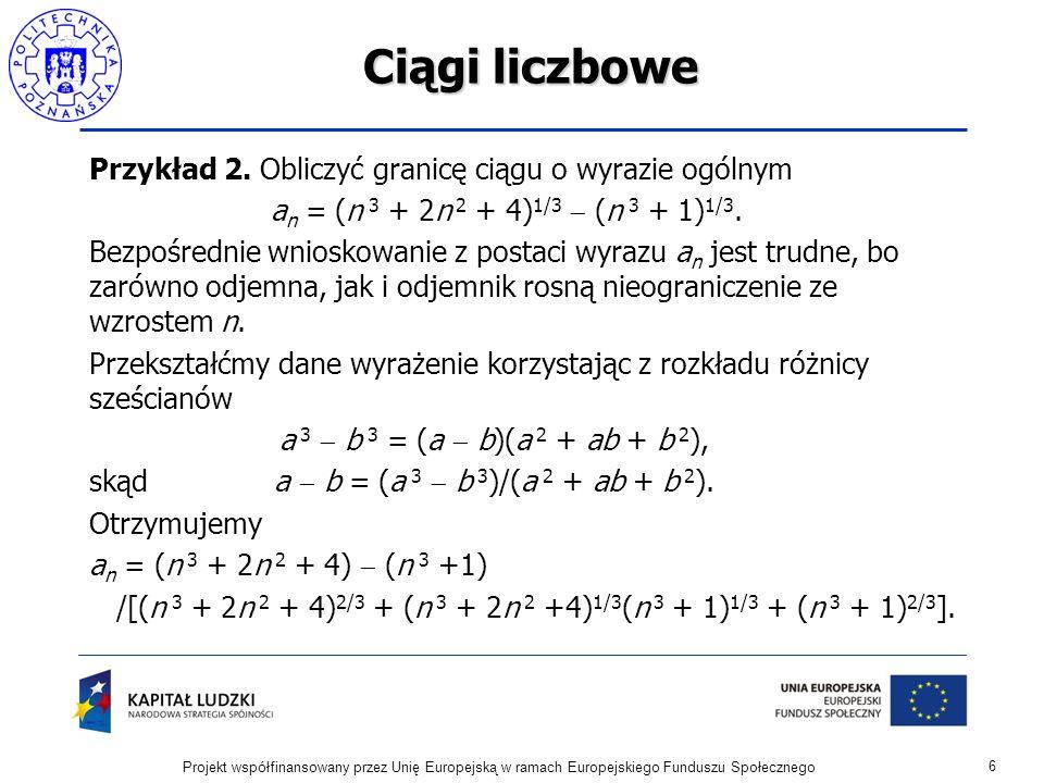 Szeregi o wyrazach nieujemnych Kryterium Cauchyego zbieżności szeregów.