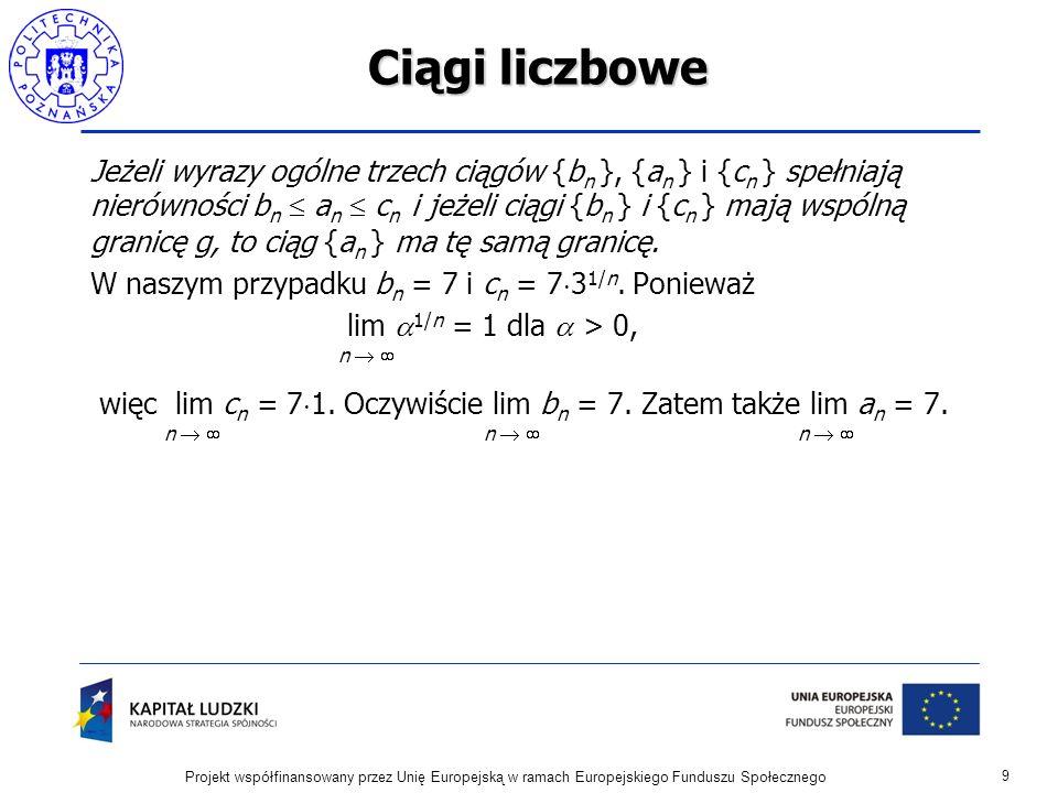 Szeregi przemienne Kryterium Leibniza zbieżności szeregów.