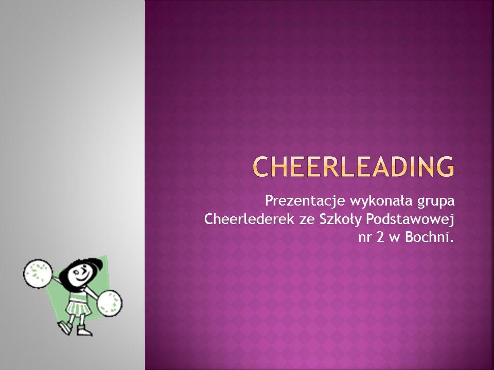 Cheerleading to zorganizowane układy składające się z elementów gimnastyki, tańca i akrobacji wykonywane w celu kibicowania zespołom sportowym w czasie meczów.