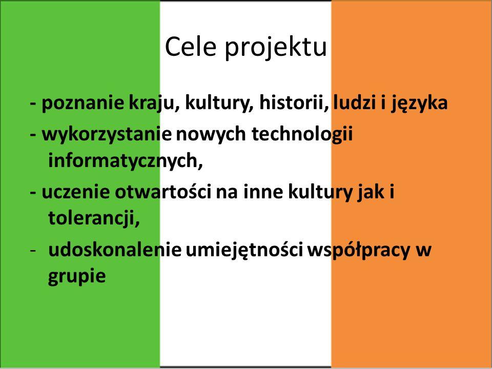 O czym w ogóle jest ten projekt.Tematem projektu była Irlandia- Moja Zielona Wyspa.