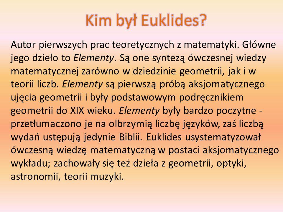 Geometria euklidesowa Przestrzeń euklidesowa Algorytm Euklidesa