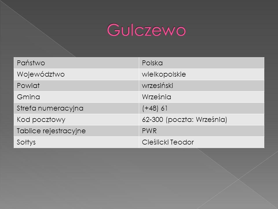 PaństwoPolska Województwowielkopolskie Powiatwrzesiński GminaWrześnia Strefa numeracyjna(+48) 61 Kod pocztowy62-300 (poczta: Września) Tablice rejestr
