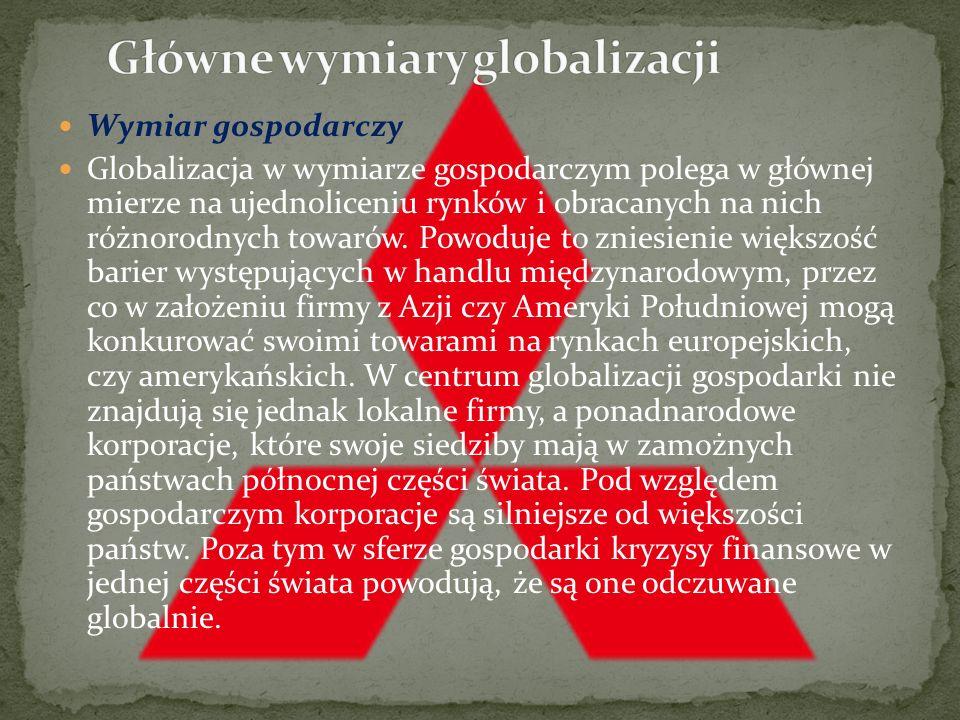 Jak można zdefiniować zjawisko globalizacji? Najczęściej przytaczana jest definicja Ronalda Robertsona, który twierdzi, że globalizacja to zbiór proce