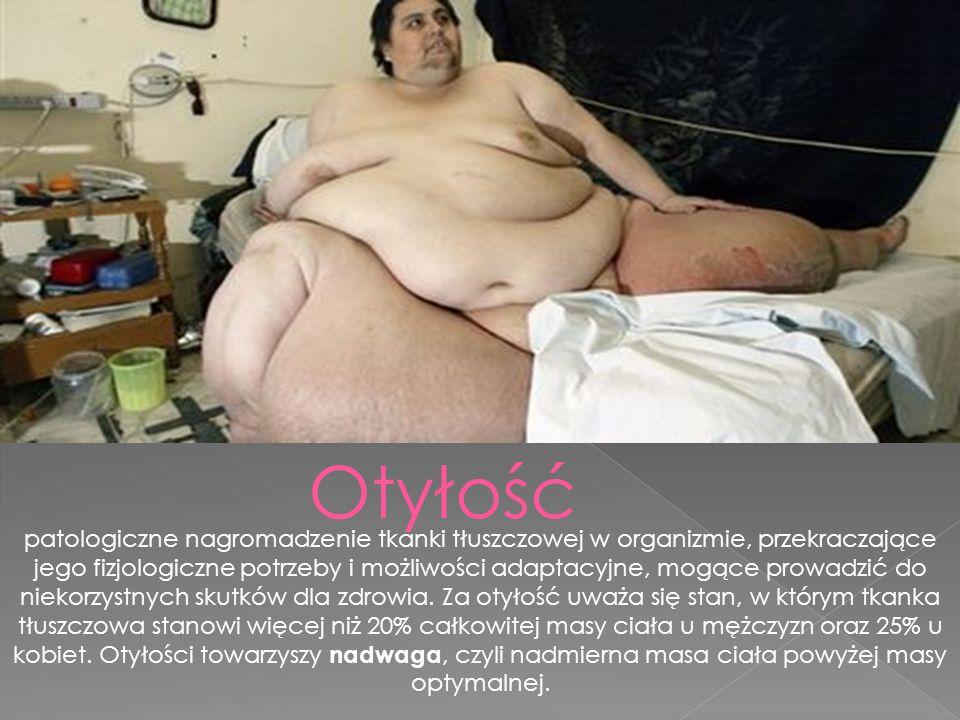 patologiczne nagromadzenie tkanki tłuszczowej w organizmie, przekraczające jego fizjologiczne potrzeby i możliwości adaptacyjne, mogące prowadzić do niekorzystnych skutków dla zdrowia.