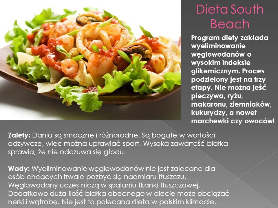 Program diety zakłada wyeliminowanie węglowodanów o wysokim indeksie glikemicznym.