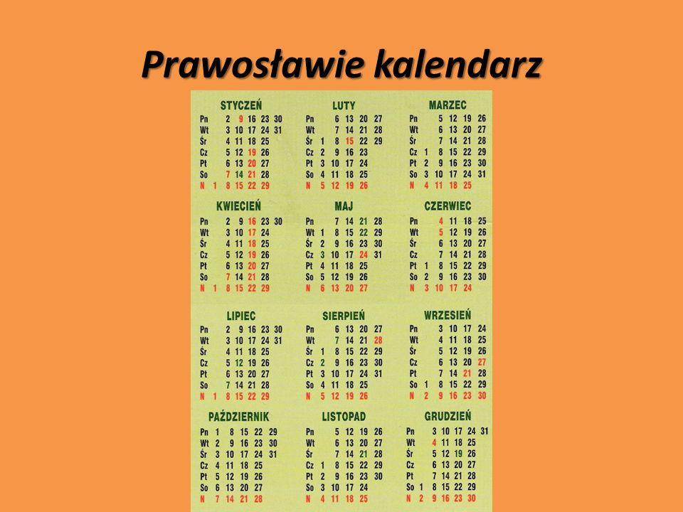 Prawosławie kalendarz