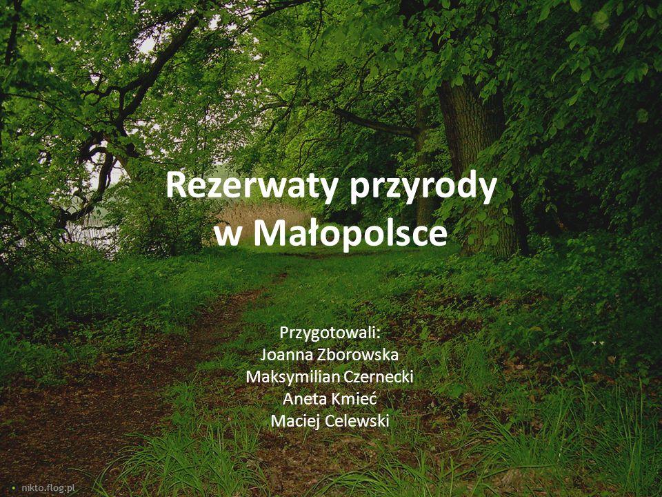Rezerwaty przyrody w Małopolsce Przygotowali: Joanna Zborowska Maksymilian Czernecki Aneta Kmieć Maciej Celewski