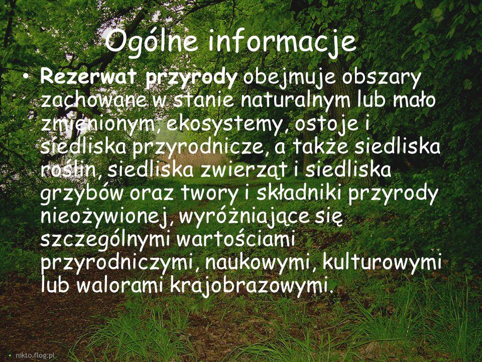 Wyróżnia się rezerwaty: -ścisłe (wyklucza jakąkolwiek ingerencje człowieka) -częściowe (dopuszczają działalność człowieka) W Polsce jest 1469 rezerwatów przyrody (stan na grudzień 2011) W Małopolsce jest 88 rezerwatów przyrody