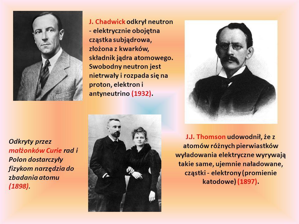 Odkryty przez małżonków Curie rad i Polon dostarczyły fizykom narzędzia do zbadania atomu (1898).