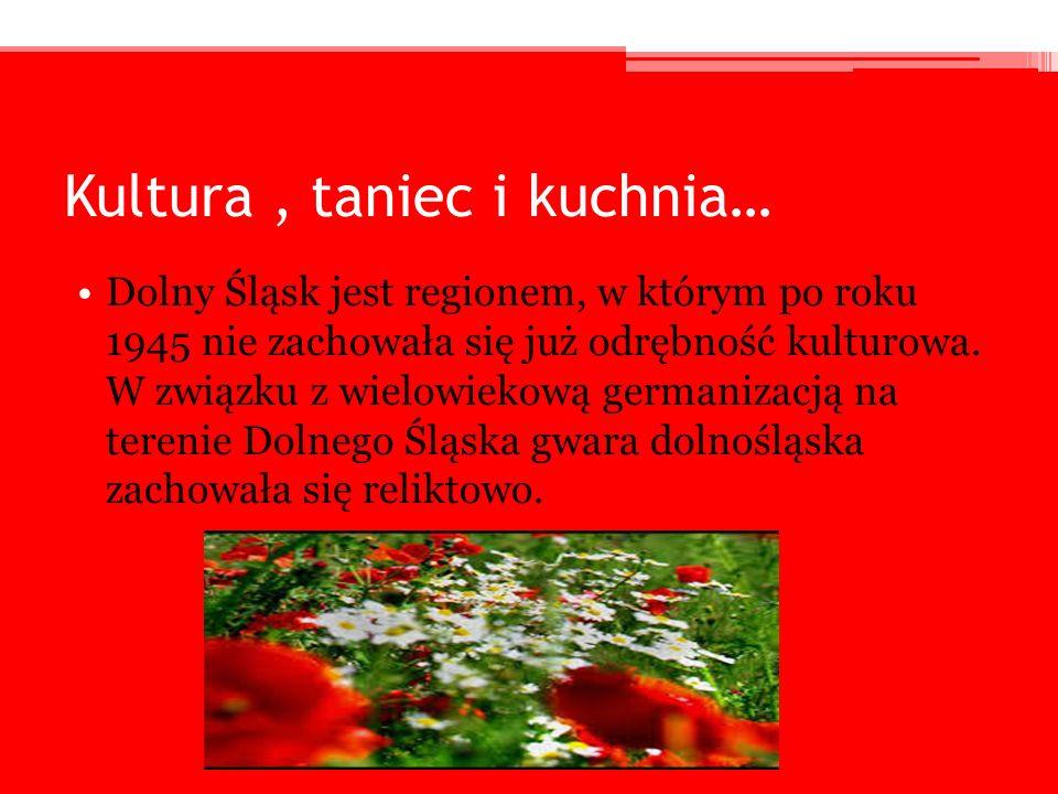 Kultura, taniec i kuchnia… Dolny Śląsk jest regionem, w którym po roku 1945 nie zachowała się już odrębność kulturowa. W związku z wielowiekową german
