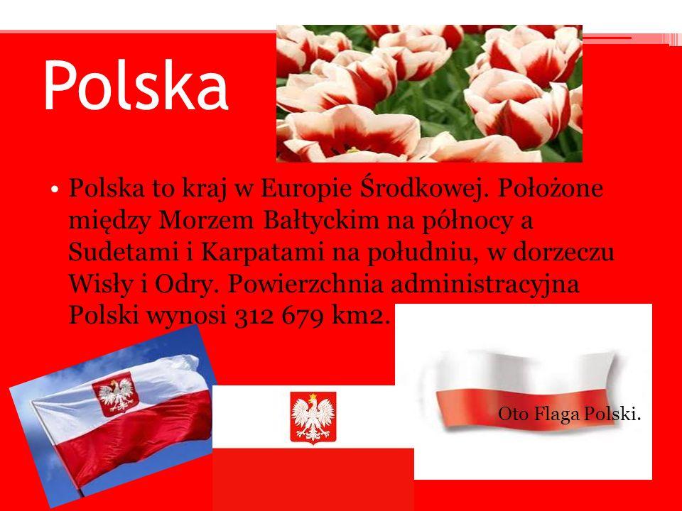 Polska Polska to kraj w Europie Środkowej. Położone między Morzem Bałtyckim na północy a Sudetami i Karpatami na południu, w dorzeczu Wisły i Odry. Po