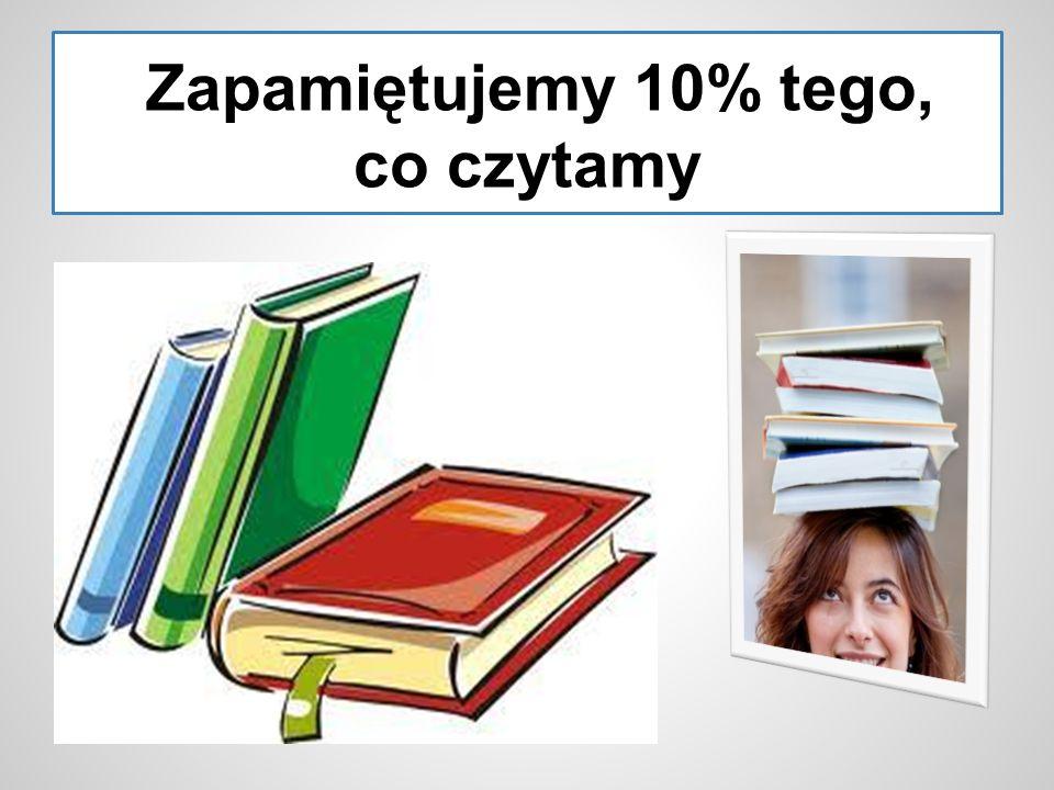 Zapamiętujemy 10% tego, co czytamy
