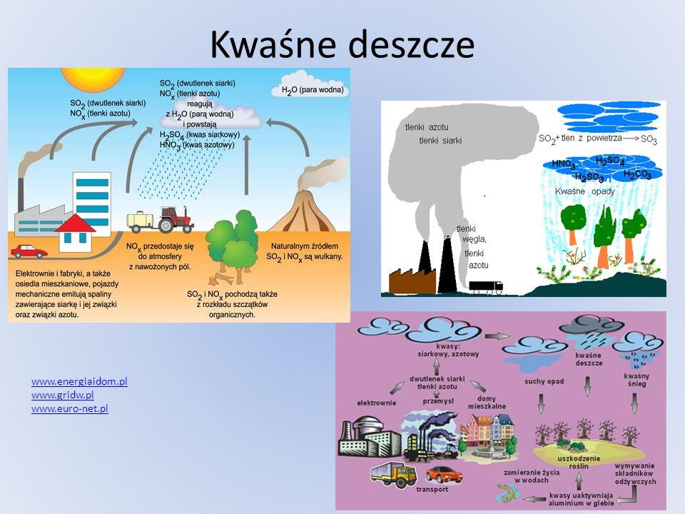 Kwaśne deszcze www.energiaidom.pl www.gridw.pl www.euro-net.pl