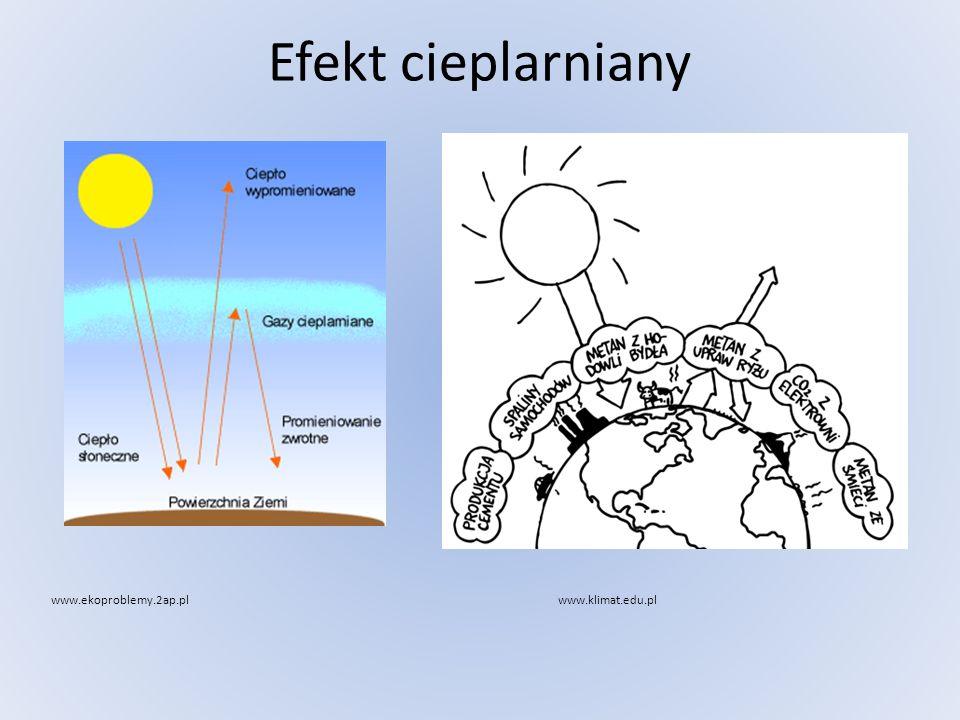 Efekt cieplarniany www.ekoproblemy.2ap.plwww.klimat.edu.pl