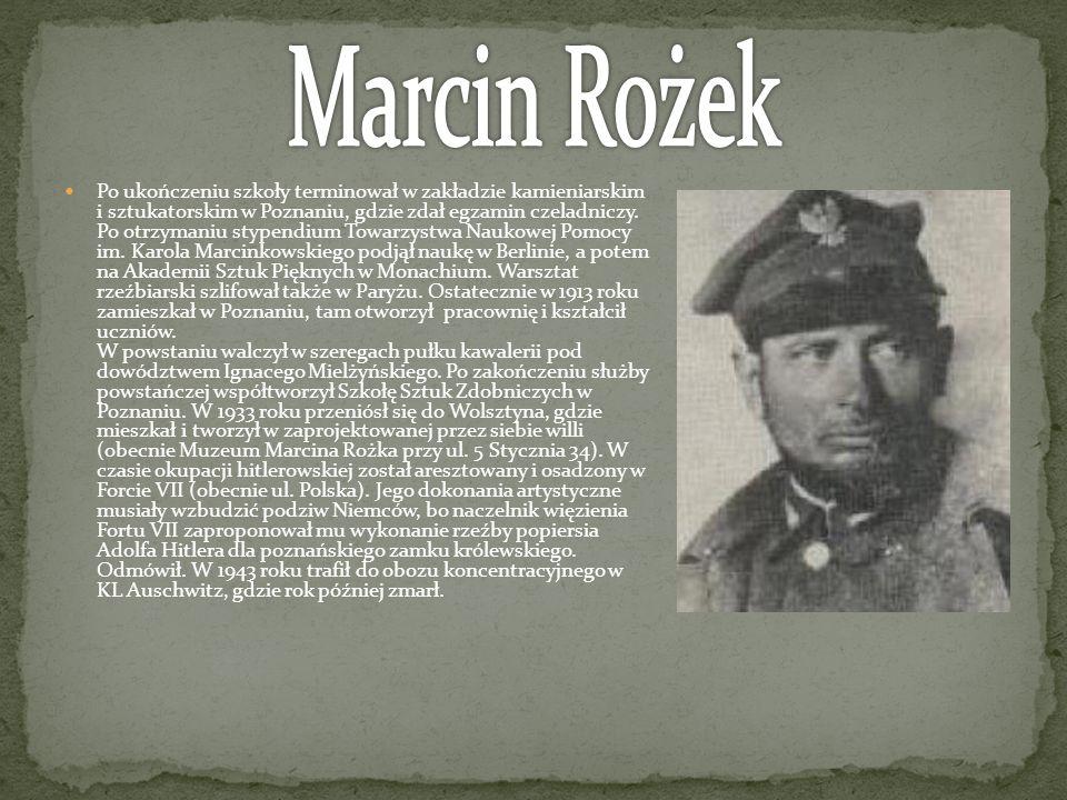 Po ukończeniu szkoły terminował w zakładzie kamieniarskim i sztukatorskim w Poznaniu, gdzie zdał egzamin czeladniczy. Po otrzymaniu stypendium Towarzy