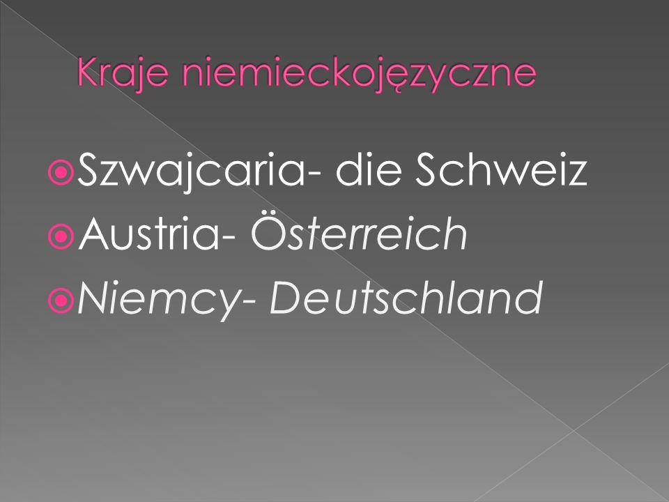 Szwajcaria- die Schweiz Austria- Österreich Niemcy- Deutschland