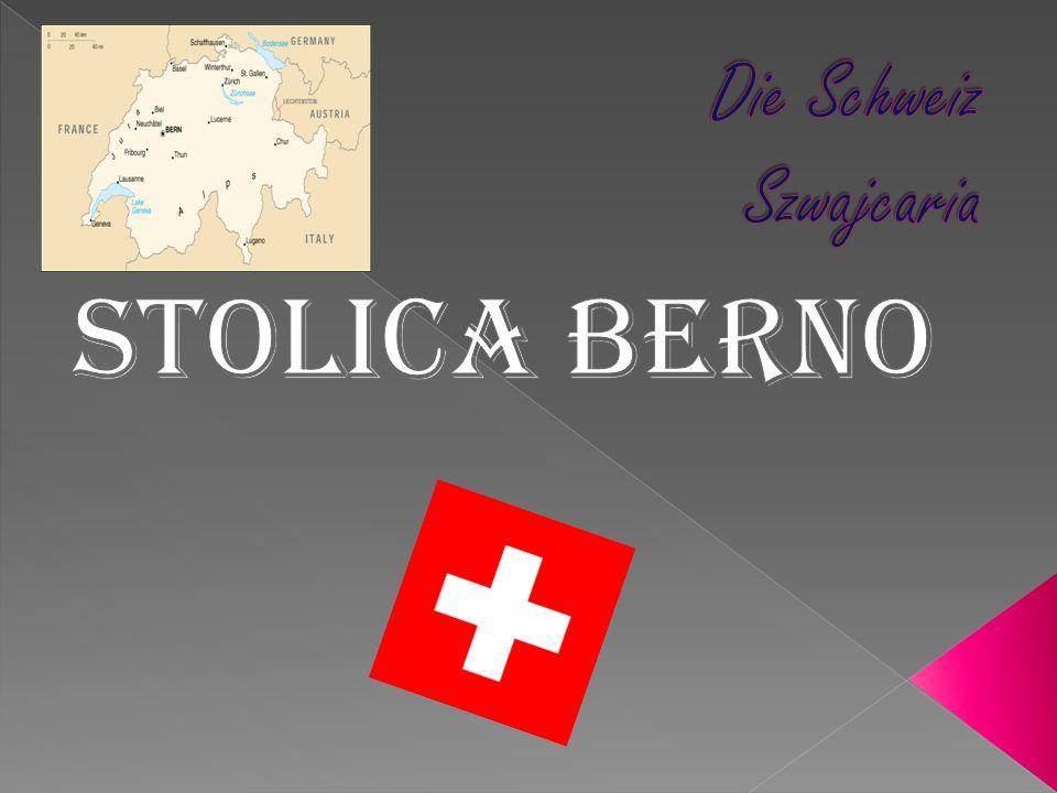 Stolica: Berno Ludność: 7 260 357 Szwajcaria podzielona jest na 26 kantonów Całkowita granica lądowa: 1 852 km Długość wybrzeża: nie ma dostępu do morza.