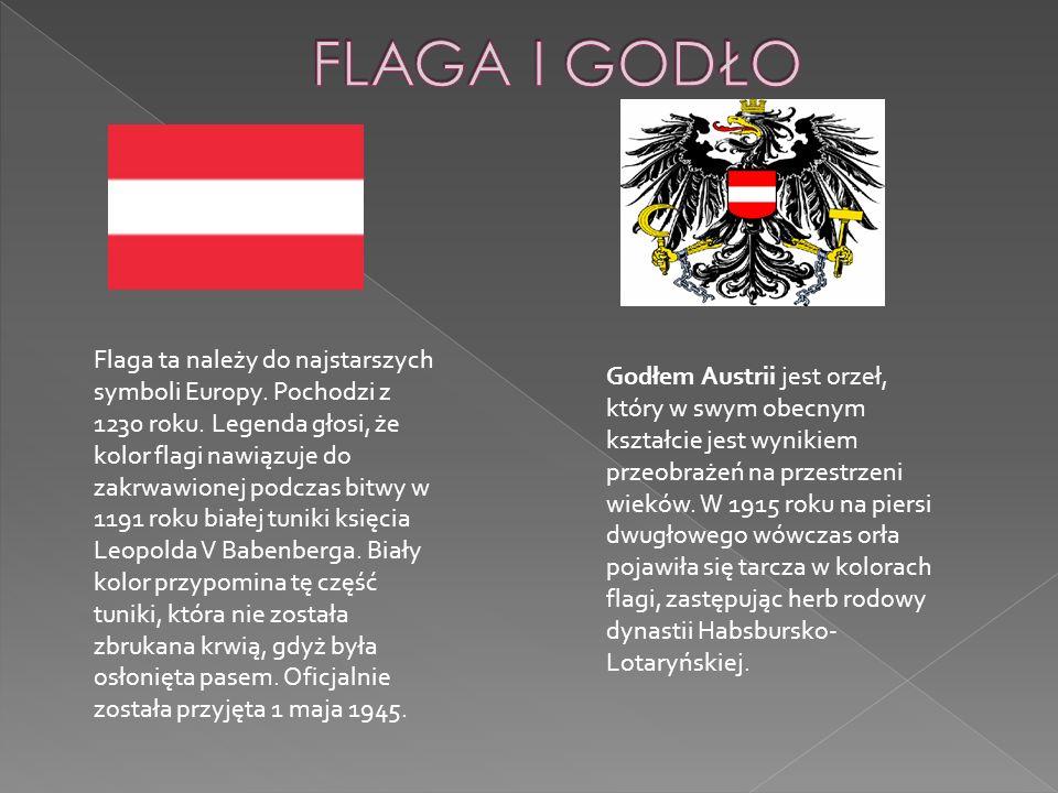 Flaga ta należy do najstarszych symboli Europy. Pochodzi z 1230 roku. Legenda głosi, że kolor flagi nawiązuje do zakrwawionej podczas bitwy w 1191 rok