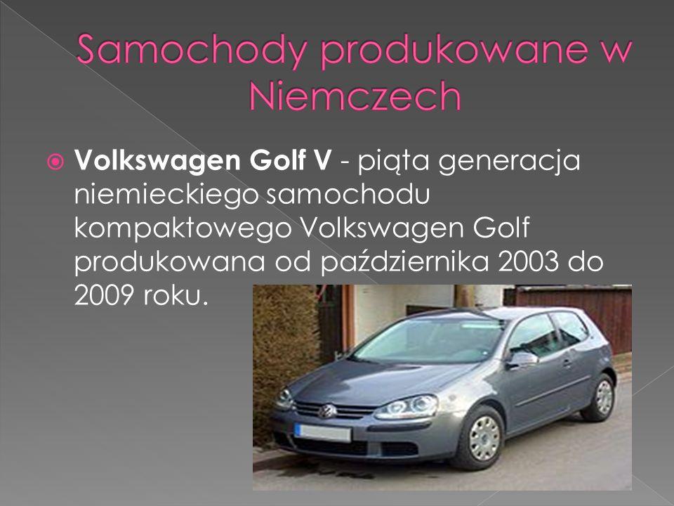 Volkswagen Golf V - piąta generacja niemieckiego samochodu kompaktowego Volkswagen Golf produkowana od października 2003 do 2009 roku.