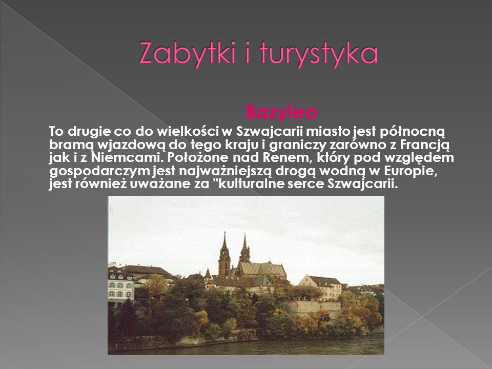 Bazylea To drugie co do wielkości w Szwajcarii miasto jest północną bramą wjazdową do tego kraju i graniczy zarówno z Francją jak i z Niemcami. Położo