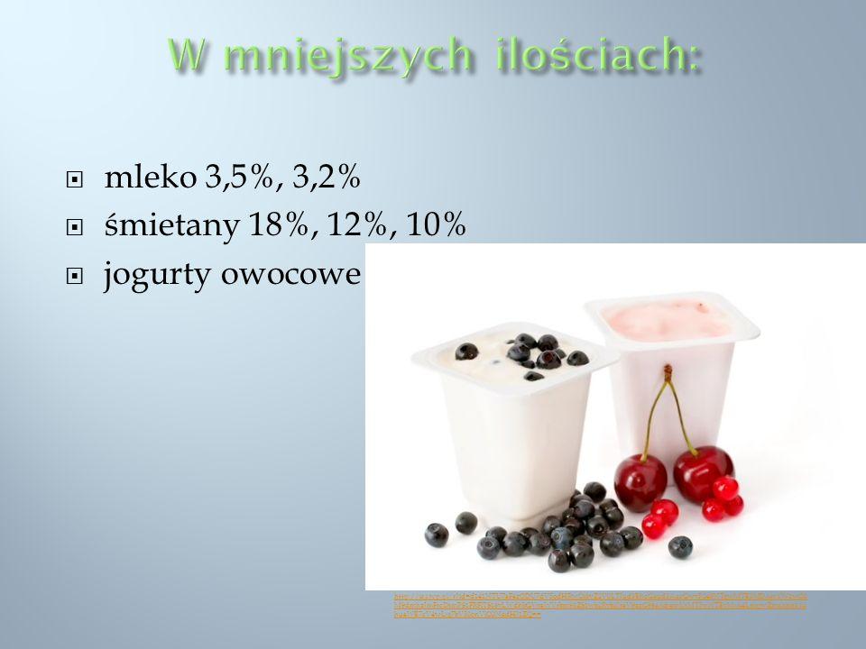 mleko 3,5%, 3,2% śmietany 18%, 12%, 10% jogurty owocowe http://ir.i.wp.pl/r?id=d141NTU7aF4zODU7dV5odHRwOi8vZ2V0LTIud3BhcGkud3AucGwvP249NTgwMTE3MDAmYW1