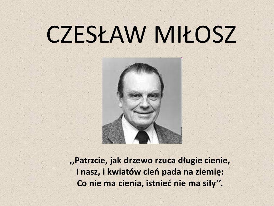 Szetejnie Czesław Miłosz urodził się 30.06.1911 r.