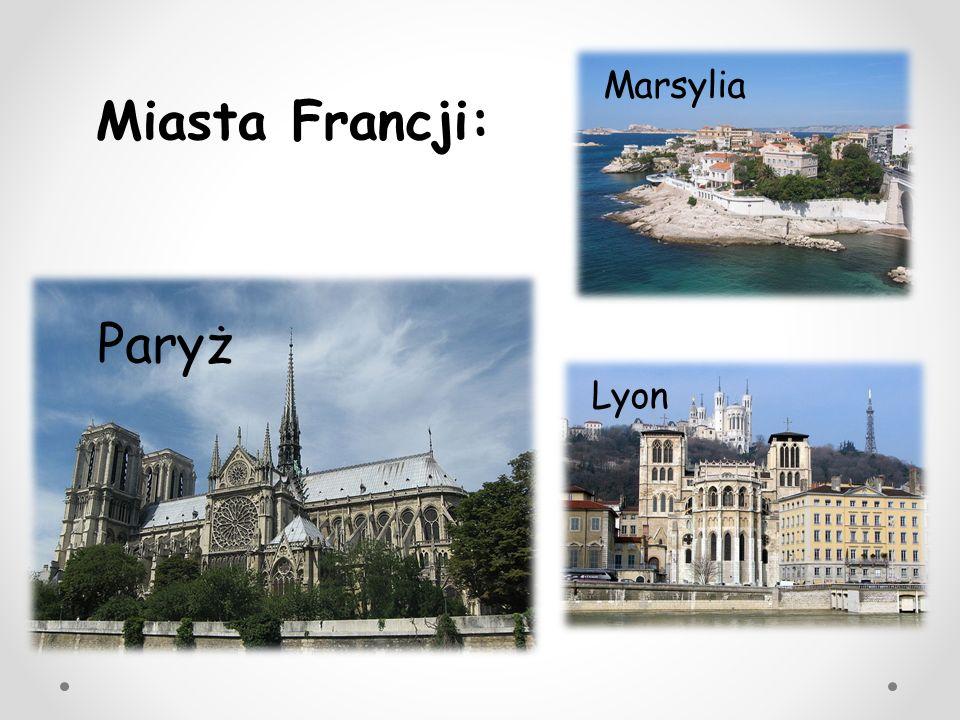 Najważniejsze zabytki: - Pałac Wersal, -Wieża Eiffla, - Łuk Triumfalny.