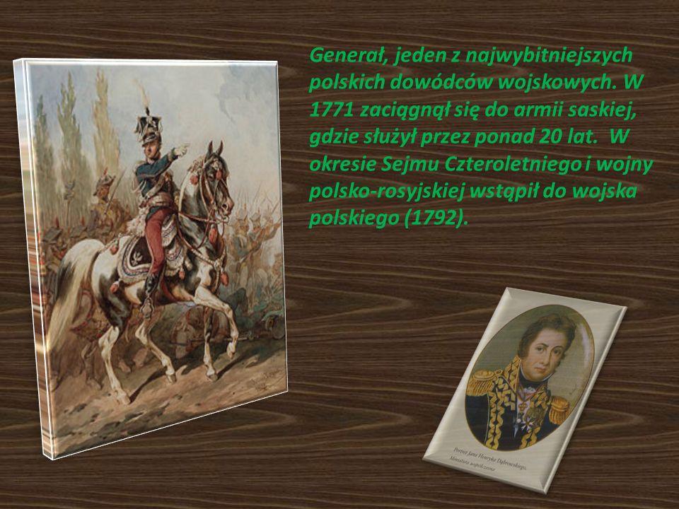 Generał, jeden z najwybitniejszych polskich dowódców wojskowych. W 1771 zaciągnął się do armii saskiej, gdzie służył przez ponad 20 lat. W okresie Sej