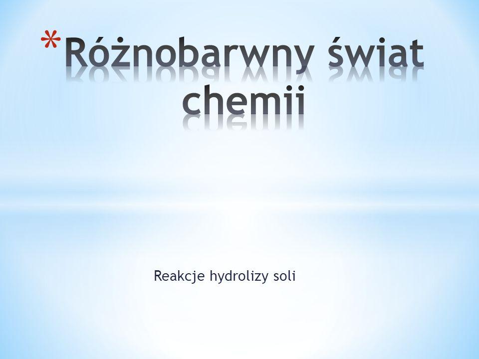 Reakcje hydrolizy soli