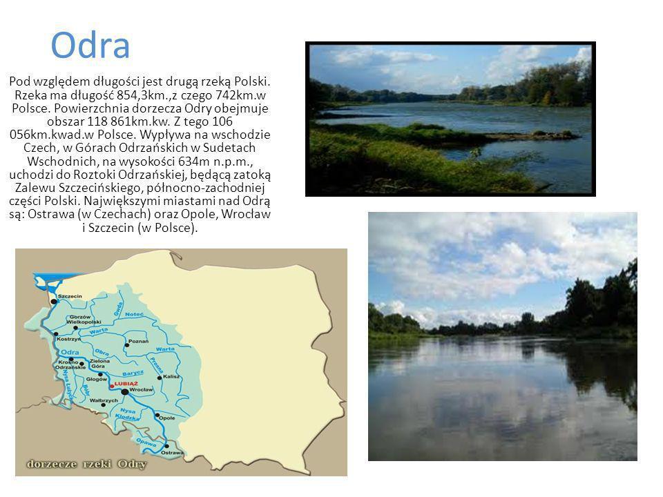 Odra Pod względem długości jest drugą rzeką Polski.