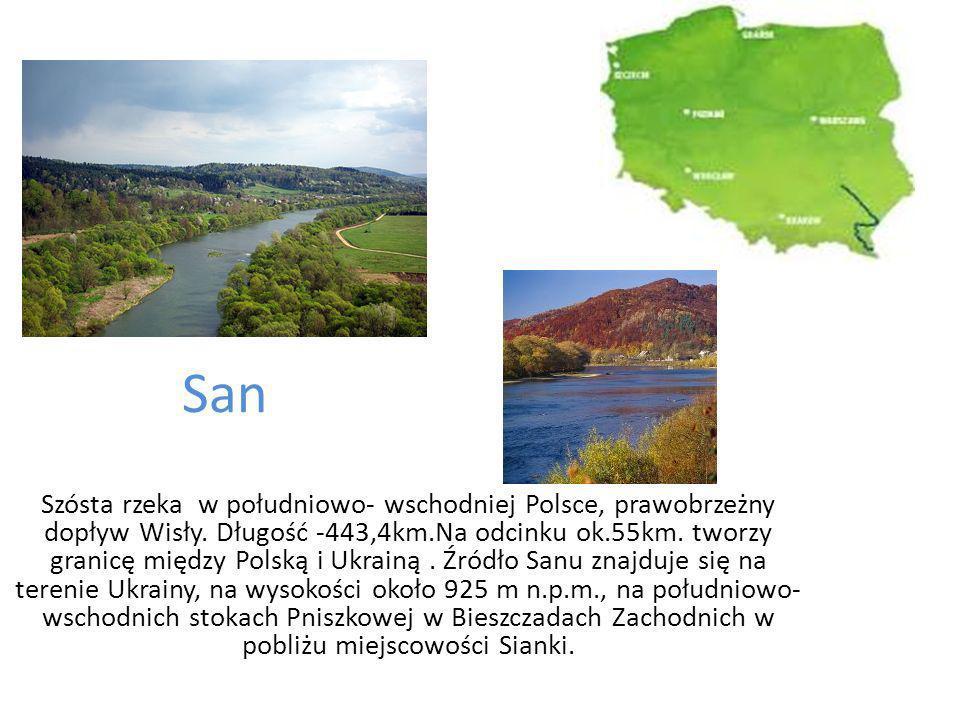 San Szósta rzeka w południowo- wschodniej Polsce, prawobrzeżny dopływ Wisły.