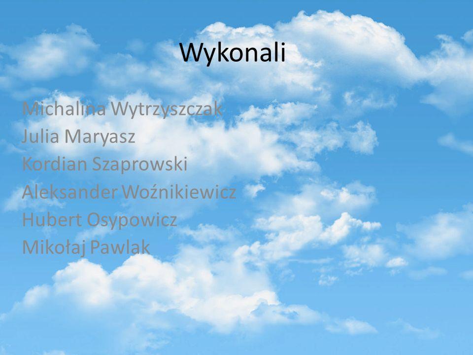 Wykonali Michalina Wytrzyszczak Julia Maryasz Kordian Szaprowski Aleksander Woźnikiewicz Hubert Osypowicz Mikołaj Pawlak