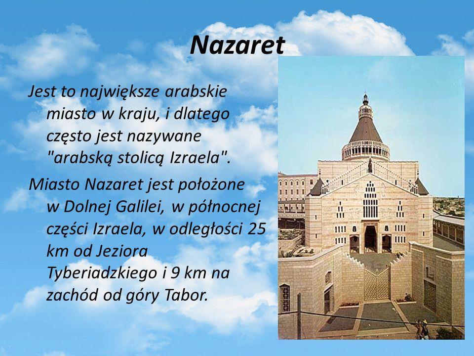 Wydarzenia biblijne w Nazarecie Nazaret- było to miejsce dorastania Jezusa.
