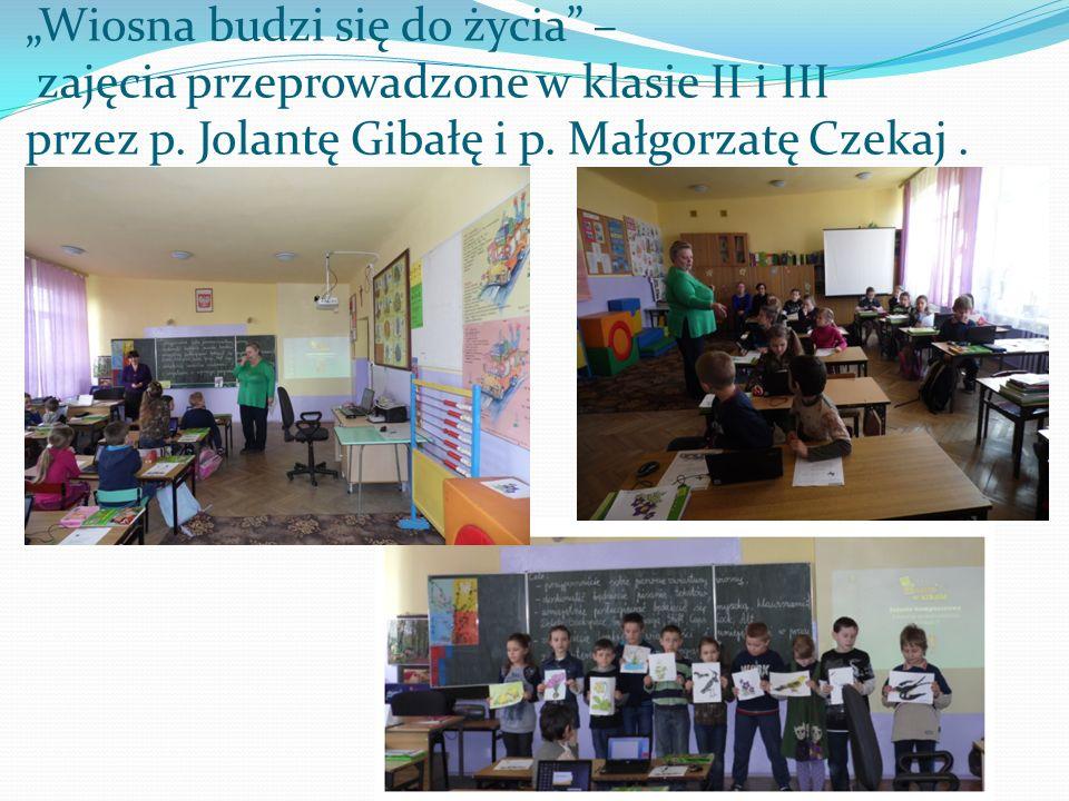 Wiosna budzi się do życia – zajęcia przeprowadzone w klasie II i III przez p. Jolantę Gibałę i p. Małgorzatę Czekaj.
