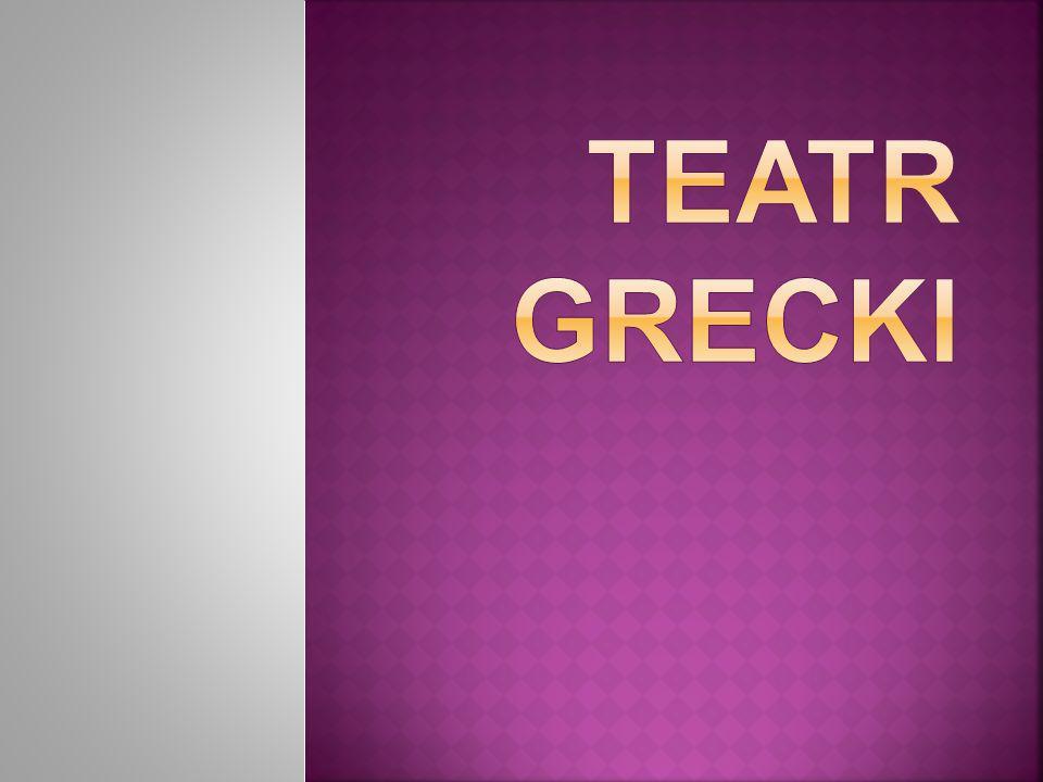 Widowiska teatralne cieszyły się w starożytnej Grecji ogromnym zainteresowaniem, początkowo miały charakter religijny, który z czasem zatracały.