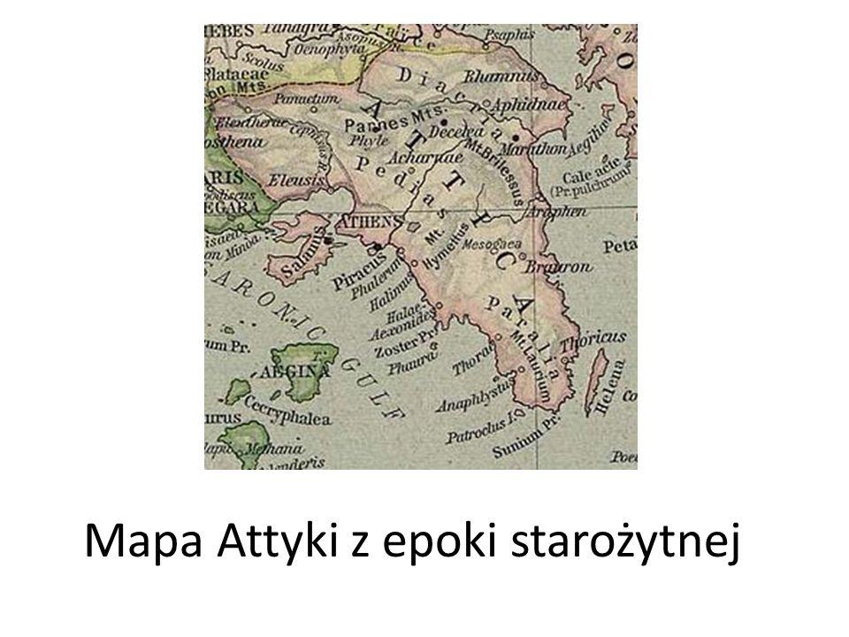 Mapa Attyki z epoki starożytnej