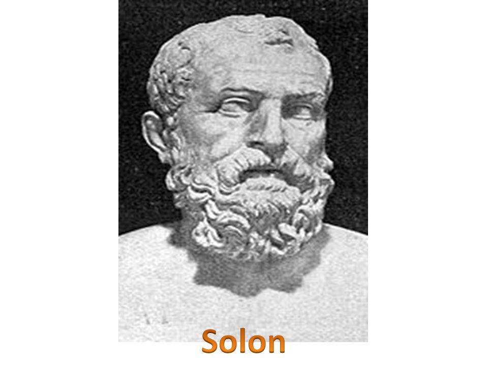 Główną zasługą Solona jako archonta były: zmiany ustrojowe Aten, podział obywateli na cztery klasy według cenzusu majątkowego, ustanowienie tzw.