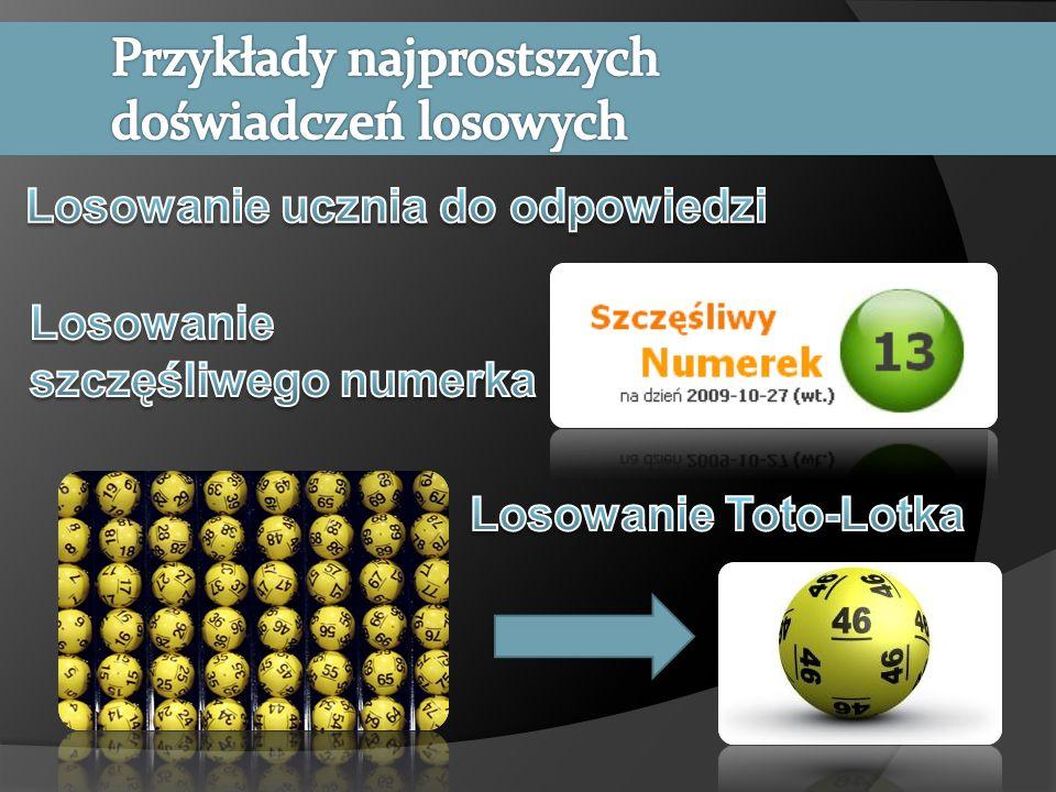 W 30 rzutach zwykłą sześcienną kostką do gry (30 powtórzeń doświadczenia losowego) Janek otrzymał kolejno następujące wyniki: 1,3,2,5,2,5,3,3,6,6,4,4,1,1,5,5,5,1,3,3,2,2,2,2,6,6, 5,5,5.