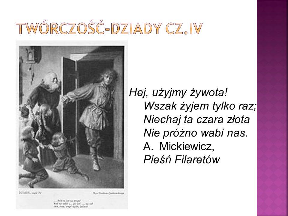 Oda do młodości- rękopis z 1820r. Adam Mickiewicz debiutował Zimą miejską na łamach Tygodnika Wileńskiego w 1818 roku. Ten najwcześniejszy okres twórc