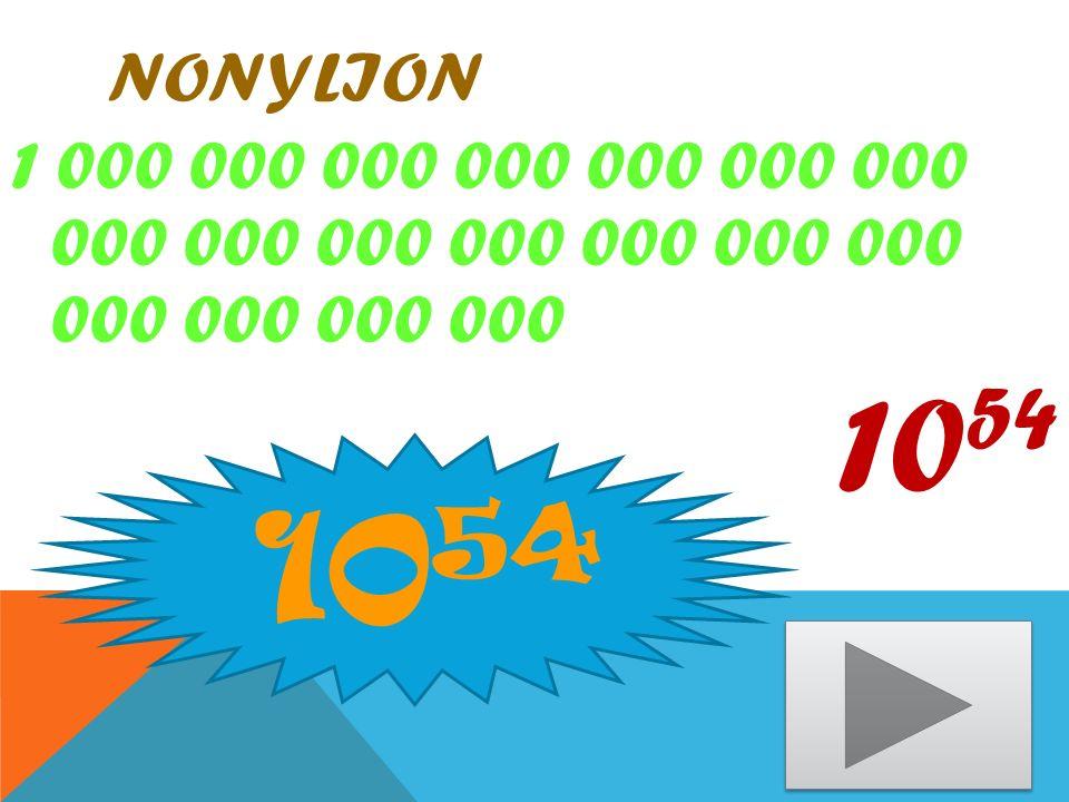 OKTYLION 1 000 000 000 000 000 000 000 000 000 000 000 000 000 000 000 00 10 48 10 48