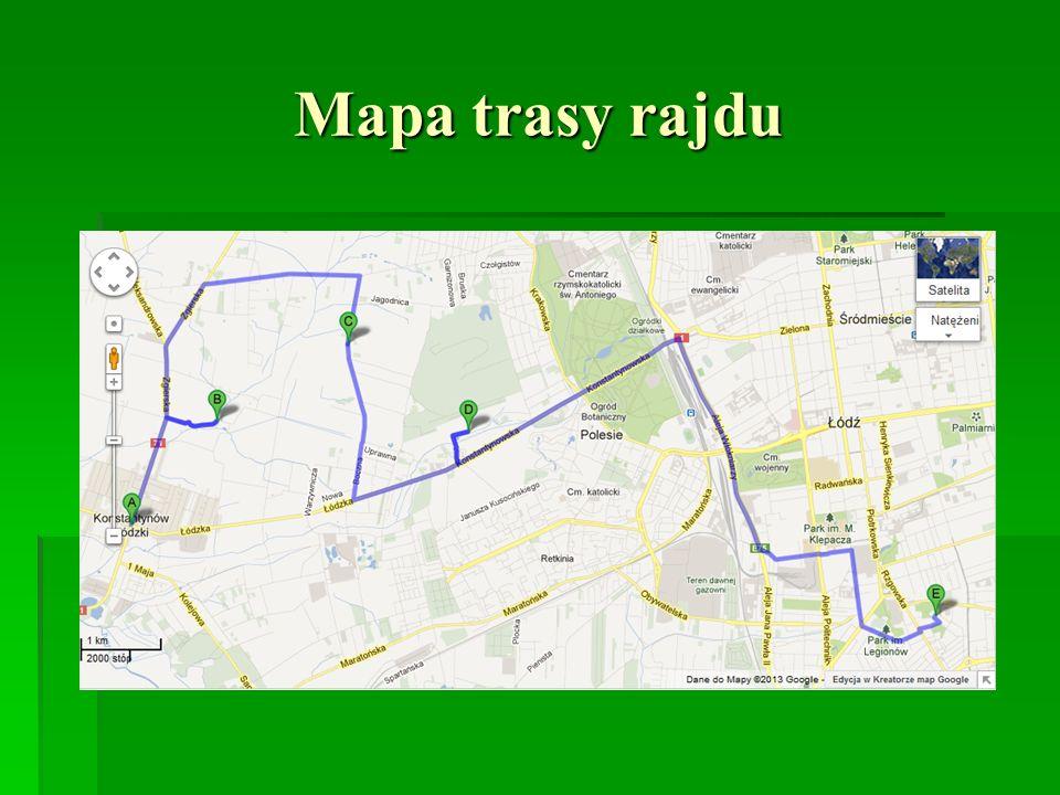 Mapa trasy rajdu