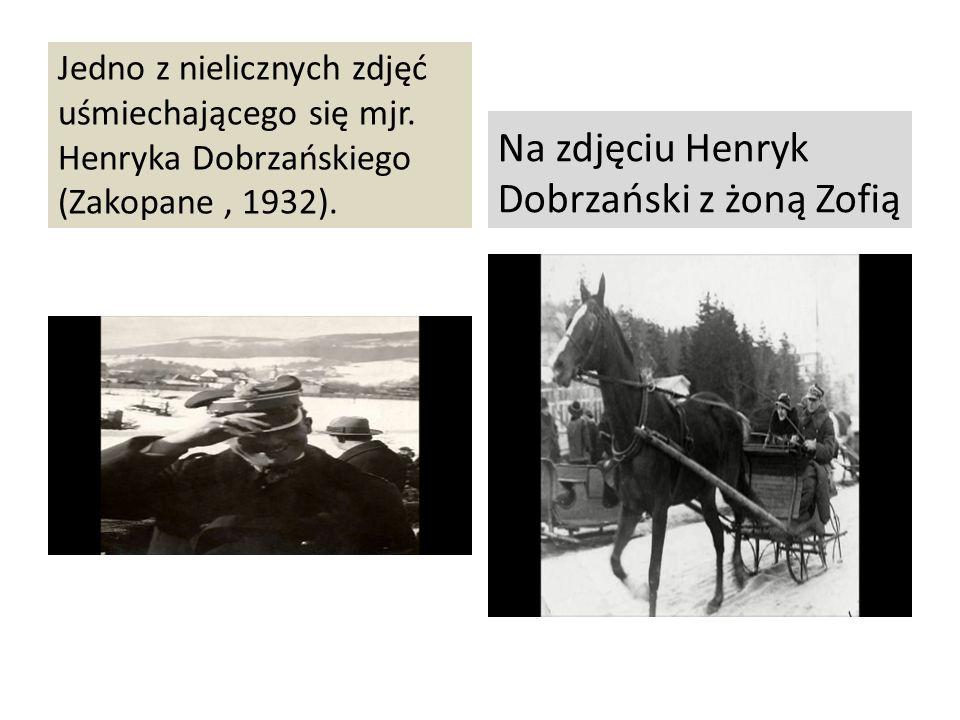 Jedno z nielicznych zdjęć uśmiechającego się mjr. Henryka Dobrzańskiego (Zakopane, 1932). Na zdjęciu Henryk Dobrzański z żoną Zofią