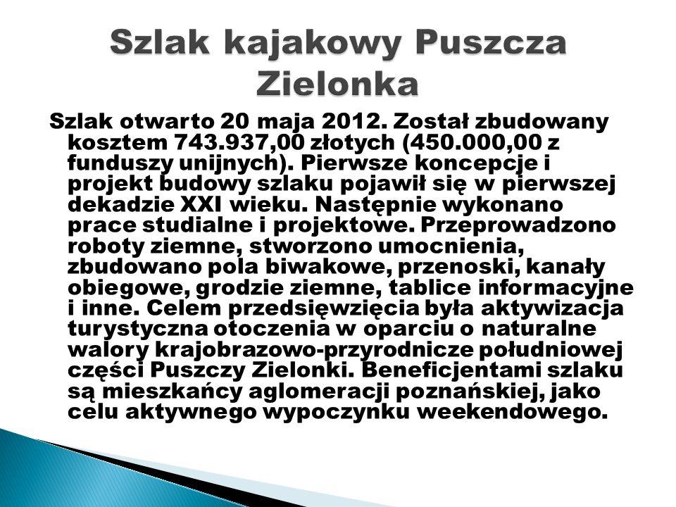Szlak otwarto 20 maja 2012. Został zbudowany kosztem 743.937,00 złotych (450.000,00 z funduszy unijnych). Pierwsze koncepcje i projekt budowy szlaku p