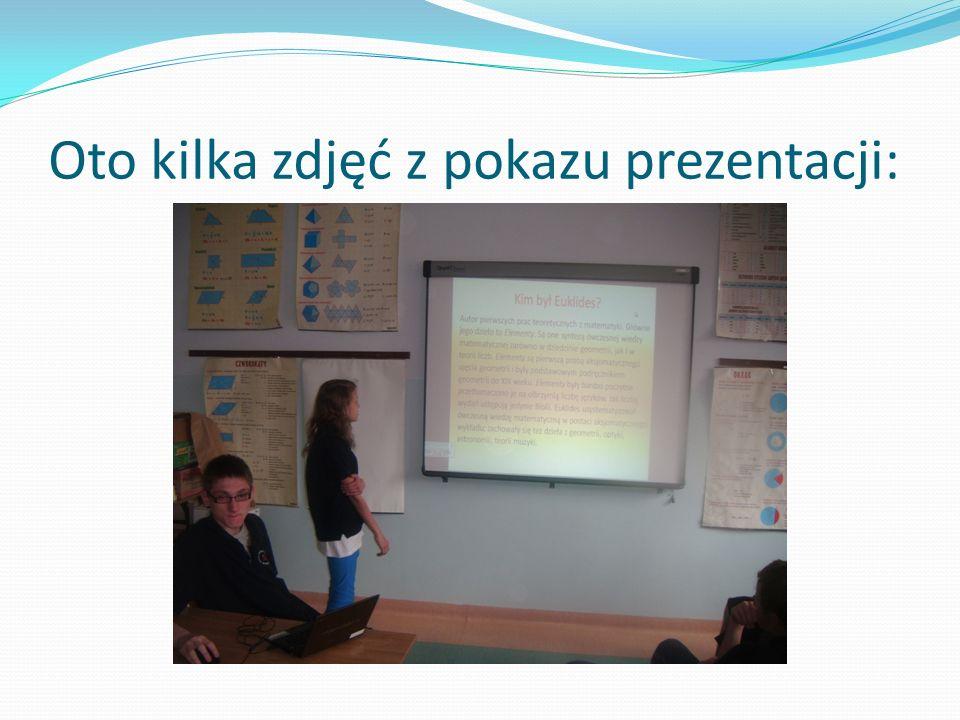 Chętni uczniowie przygotowali prezentacje o wybranym przez siebie matematyku. Natalia Antos –Euklides Julia Dudzik –Archimedes Krzysztof Książek – Tal