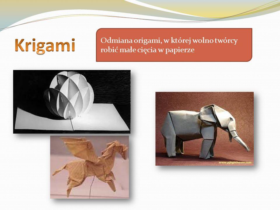 Odmiana origami, w której wolno twórcy robić małe cięcia w papierze