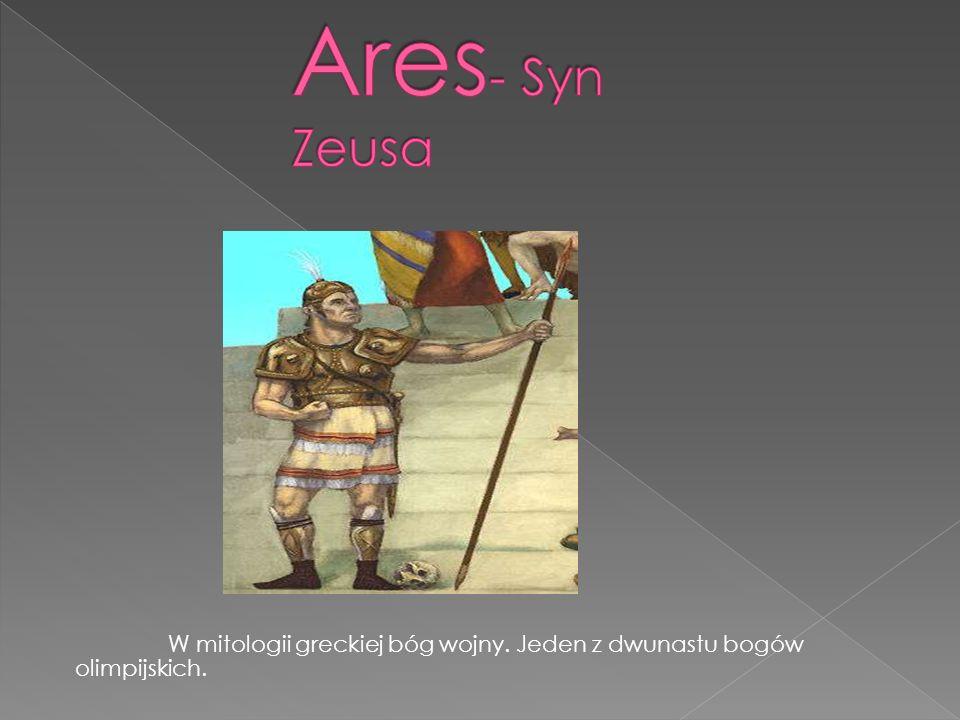 W mitologii greckiej bóg wojny. Jeden z dwunastu bogów olimpijskich.