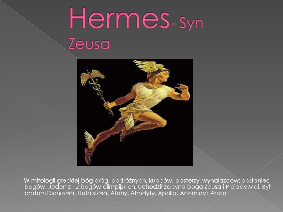 W mitologii greckiej bóg dróg, podróżnych, kupców, pasterzy, wynalazców; posłaniec bogów.