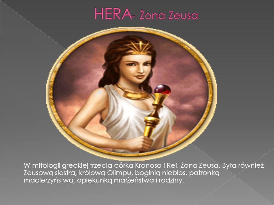 W mitologii greckiej trzecia córka Kronosa i Rei.Żona Zeusa.