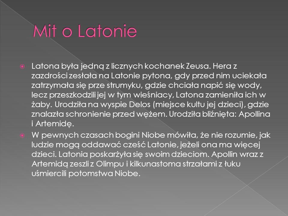 Latona była jedną z licznych kochanek Zeusa.
